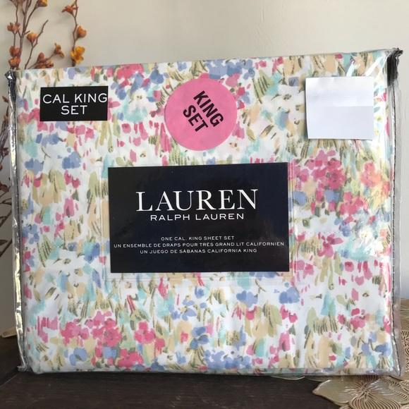 Ralph Lauren Floral Cal King Bedsheets Set